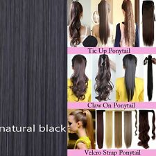 Ponytail Clip in Hair Extension Claw Pony tail clip on Extensions Hairpiece HS5