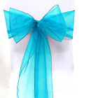 10/50/100Pcs Organza Chair Covers Sash Bow Wedding Reception Party Banquet Decor