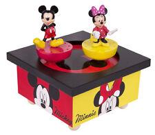 Trousselier s95200 musicale en bois Boîte à musique Mickey Mouse & Minnie NOUVEAU & OVP