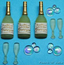 CONGRATULATIONS Wedding Birthday Graduation Champagne Dress It Up Craft Buttons