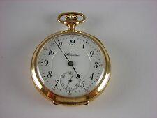Antique 16s Hamilton 954 hi grade 17j pocket watch. 1913. Nice gold filled case!