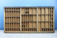 Vtg Wooden Printers Drawer Letterpress Type Set Tray Shadow Box 32 X17 X125