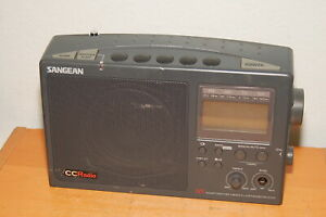 Sangean CC Radio WX AM FM TV Weather 4 Band (Display not working)