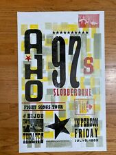 Old 97's / Slobberbone Yee Haw Industries Screen Printed Poster 1999