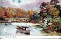 1913 Raphael Tuck Central Park Series 2057 Oilette Charles Flower NYC Postcard