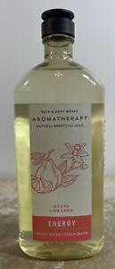 Aromatherapy ENERGY Guava + Orange Body Wash & Foam Bath 10oz Bath & Body Works