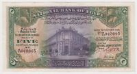 Egypt 5 Pounds 1939 P19b Better Date Cook Sign Solid VF Cairo National Bank