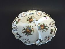 """Godinger Yorkshire Relish, Candy, 3 Section Tray/Plate 10 1/2"""" Center handle"""