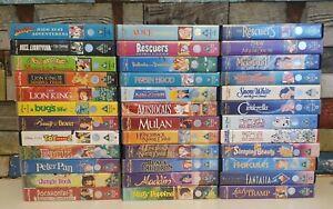 Walt Disney Classics VHS Bundle Rare Collection Children Retro x36
