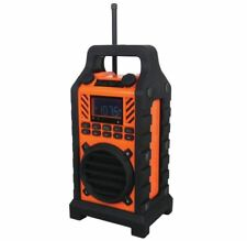 Sylvania SP303-Orange Heavy Duty Rugged Bluetooth Portable Speaker w/ FM Radio