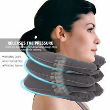 Inflatable Neck Pillow Travel Cervical Traction Device Instant Relief Pain US