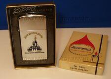 VINTAGE MIB ZIPPO CIGARETTE LIGHTER 1979 SLIM WALT DISNEY WORLD MAGIC KINGDOM FL