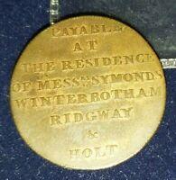 1794🔹️MIDDLESEX 'Newgate Prison' Halfpenny Token Coin MDCCXCIV