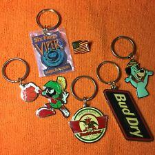 New listing Set Of 6 Vintage Collectible Keychains & Usa Flag Pin, BudDry, Budweiser, & More