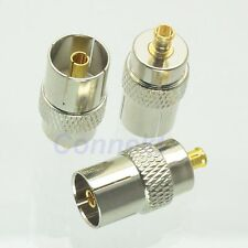1pce IEC DVB-T TV PAL female jack to MCX male plug RF adapter connector