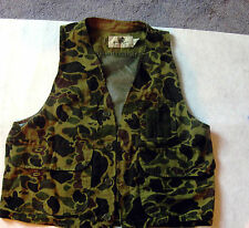 Black Sheep unisex multi- color hunting vest small cotton woodland reversible