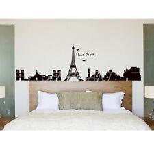 Wall Sticker Adesivi da Parete Torre Eiffel Edifici Paesaggio Città Parigi Decal
