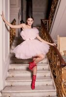 Giambattista Valli X H&M HM Short Flared Tulle Dress Pink 2 6 10 14 34 42 New