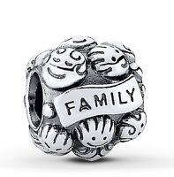 New Silver Plated LOVE FAMILY Charm Fit European Brand bracelet UK SELLER
