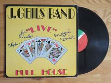"SETH JUSTMAN DANNY KLEIN MAGIC DICK signed THE J. GEILS BAND 1972 ""LIVE"" Record"