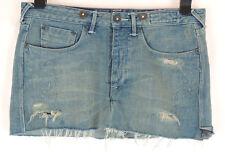 """WOMEN'S JACK WILLS - Blue Denim Distressed Mini Skirt - Waist 26"""""""