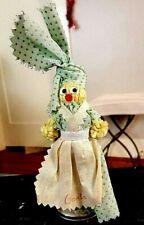 Atlanta Doll Souvenir Bell 6 × 2 inches Green Polka Dots Apron