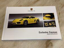 Porsche Cayman Exclusive 2013 2014 Hardback Brochure