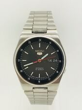 Seiko 5 Black Dial Automatic 21 Jewels Watch (GREAT CONDITION) SERVICED