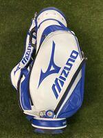 Mizuno Tour 9 Inch Staff Golf Bag Mini White Blue Black 5-Way Divide NEW!!