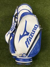 Mizuno Tour 9 Inch Staff Golf Bag Mini White Blue Black 5-Way Divide NEW!!