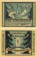 Germany 50 Pfennig 1921 Notgeld Lippspringe AU-UNC Banknote - UK Seller