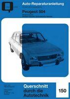 Peugeot 504 Vergasermotor Reparaturbuch Reparaturanleitung Reparatur-Handbuch