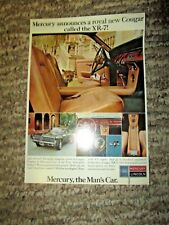 1967 Mercury Cougar XR7 Large Factory Postcard Postmarked