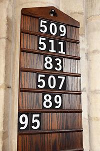 Church Hymn Numbers / School plastic Hymn board Number Sets White on Black