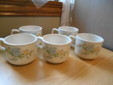 "Set of 5 Vintage Lenox Temper-Ware""Sketchbook"" Cups,Mugs"
