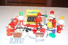 Playmobil Lote gasolinera 1 gas oil oil gas station konvolut 1 Race carreras
