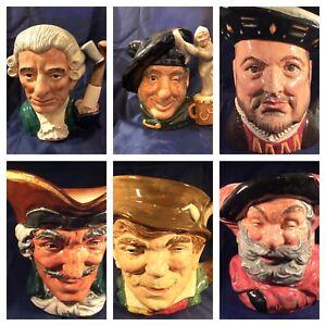 CHOICE OF LARGE ROYAL DOULTON CHARACTER JUGS  Dick Turpin,  Paddy  or Falstaff
