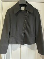Oasis Ladies Cropped Smart Black Jacket Size 14 Fashion Blogger