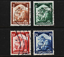 1935 Germany Return of Saar Set Sc#448-451 Mi#565-8 Clean Used Sound 18282