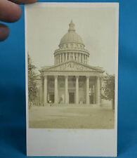 1870s French CDV Le Pantheon Carte De Visite Paris France NR