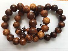 Men's precious wooden beads bracelet