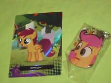 My Little Pony SCOOTALOO Crusader Necklace DOG TAG & Foil Trading Card #TC13 Set