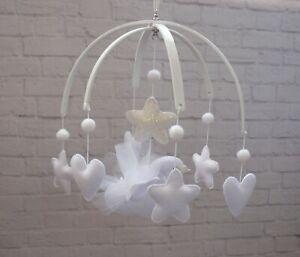 Swan baby crib mobile Felt mobile White mobile Ballet tutu mobile Baby girl