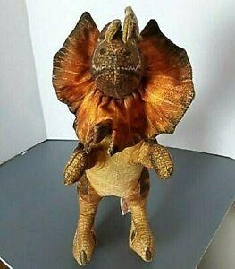 "VIntage 1992 Dakin Jurassic Park DILOPHOSAURUS Dinosaur 22"" Stuffed Plush Toy"