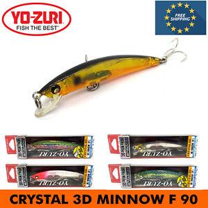 YO-ZURI CRYSTAL 3D MINNOW F FLOATING UV ATTACK FISHING HARD BAIT LURE 90mm 7g