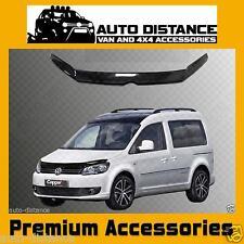 VW Caddy New Shape Bonnet Protector Bug Guard Solid Black Acrylic 2011-2015
