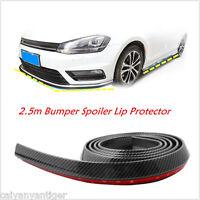 """Black 98/"""" Car Front Bumper Lip Splitter Spoiler Lip Chin Skirt Protector Kit #21"""