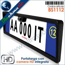 BlackMusic Portatarga con telecamera HD regolabile integrata - Retrocamera CCD