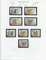 COOK ISLANDS SELECTION   OF MOSTLY 2009  SETS & SOUVENIR SHEETS MINT NH AS SHOWN