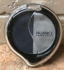 Nuance Salma Hayek Mineral Eyeshadow Duo 025 MIDNIGHT BLUE/SILVER STEEL Sealed!!